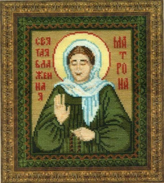 Схема вышивания крестом - Святая Блаженная Матрона